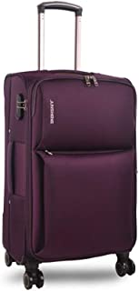 YCYHMYF Lightweight Oxford Cloth Leather Trolley case Soft Suitcase Travel (Purple 20 inch)