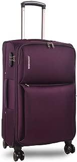 YCYHMYF Lightweight Oxford Cloth Leather Trolley case Soft Suitcase Travel (Purple 20 inch)