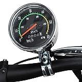 ஐ 材質:ボディ彫刻+クロームベゼル カラー:写真通り   注意:[fleurr bleue]は偽物販売者です、お客様が受け取る商品は違うものかもしれません、よく注意してお願いいたします。 ஐ この自転車スピードメーターは非常にクラシックで高強度です。そして、防錆で長く使えます。 ஐ 自転車の走行距離を正確に記録する ஐ 66 / 70 /71/73cmに適しており、普通の自転車を使用することができます ஐ 非常にコンパクトで設置が簡単です。走行距離計を自転車のハンドルバーに取り付けて、センサー...