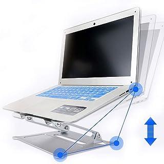 Mesa Soporte para Portátil Soporte Aumento De Escritorio Radiador Portátil Aleación De Aluminio Suspensión De Elevación (Color : Silver, Size : 27 * 22cm)