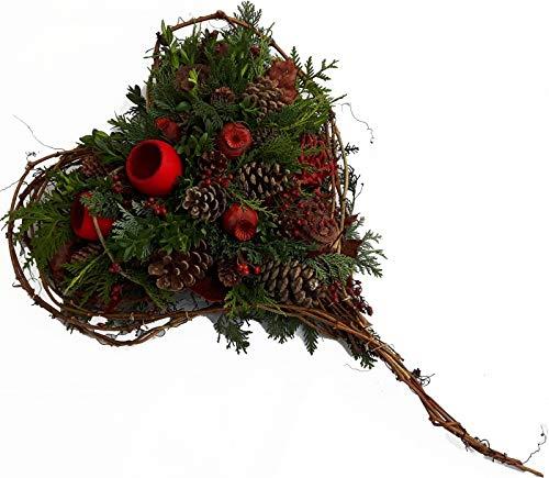 Flora Trans - Grabgesteck Allerheiligen -Von Herzen - Gesteck Friedhof