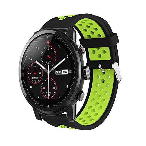 Saisiyiky Correa Reloj Compatible Amazfit Xiaomi Huami,22mm