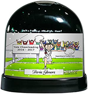 PrintedPerfection.com Personalized Friendly Folks Cartoon Caricature Snow Globe Gift: Cheerleader - Female Great for Cheerleader Competition, Trophy