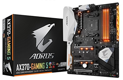 Gigabyte ga-ax370-gaming 5 AMD Ryzen AM4 X370 RGB Fusion Smart Fan 5 HDMI m.2 u.2 USB 3.1 der U89 ATX DDR4 Motherboard