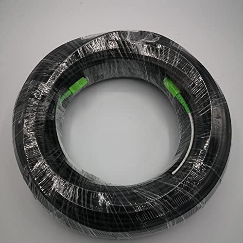 Elfcam - Cable de Fibra Óptica para Instalaciones en Exterior 5,0mm, SC APC a SC APC Monomodo Simplex 9 125µm OS2, Compatible con Fibra Óptica de FTTH, 150M