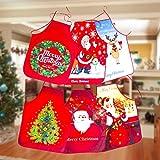 21sandwhick Weihnachten Schürze, Frohe Weihnachten Baum Santa Claus Print Schürze Küche Kochen...