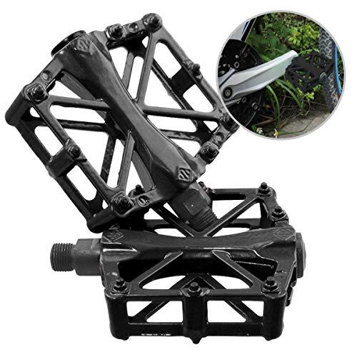 JJOnlinestore–Ein Paar/2PCS Ultralight Aluminium flach Plattform Pedale Fahrrad MTB BMX Mountain Bike Racing Links Rechts Pedale Achse 9'/16' Zoll, schwarz