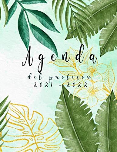 Agenda del profesor 2021 / 2022: grande agendas escolares -tropical-Cuaderno del docente 2021 2022 semana vista español, Calendario educacion , diario regalos para profesora.