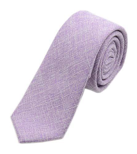 Men's Summer Cotton Tie in French Lavender Wedding Best Necktie for Bridal Party