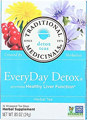 Traditional Medicinals Everyday Detox Herbal Wrapped Tea Bags, 16 ct by Traditional Medicinals