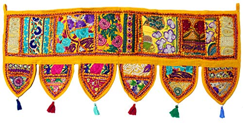 Mango Gifts Handmade Ethnic Home Decor Toran Tapestry Embroidered Garland Door Hanging India