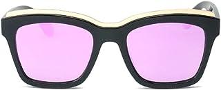 Fashion Metal Eyebrows Personality Glasses UV400 Protection Color Lens Women's Fashion Black Square Frame Polarized Sunglasses Retro (Color : Purple)