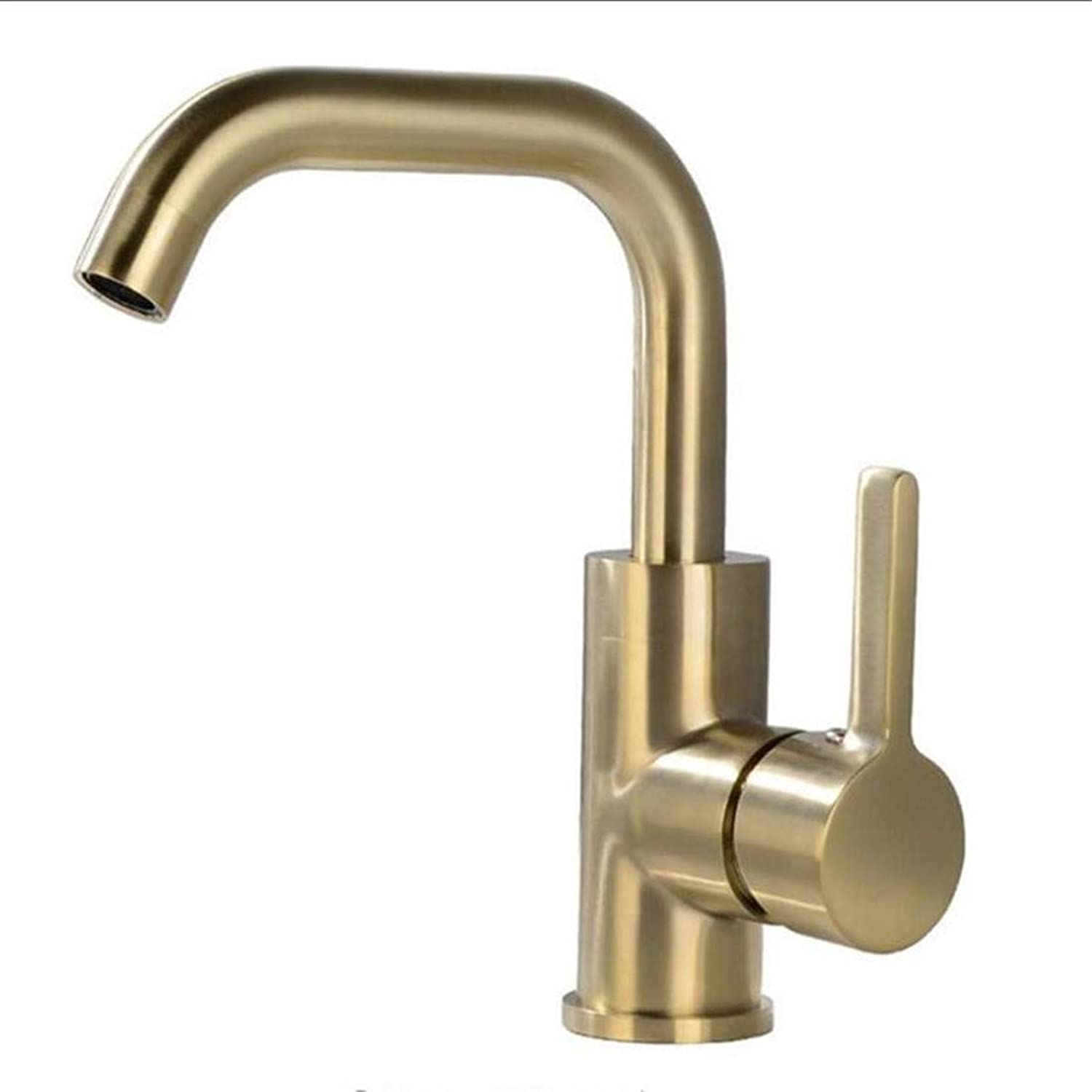 High Quality Kitchen Brass Stainless Steel Solid Brass Basin Faucet Cold and Hot Water Mixer Single Handle Tap Chrome Black Brushed gold Sink Taps