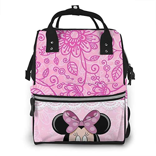 Diaper Bag Backpack - Minnie Mouse Multifunction Waterproof Travel Backpack Maternity Nappy Changing Bags