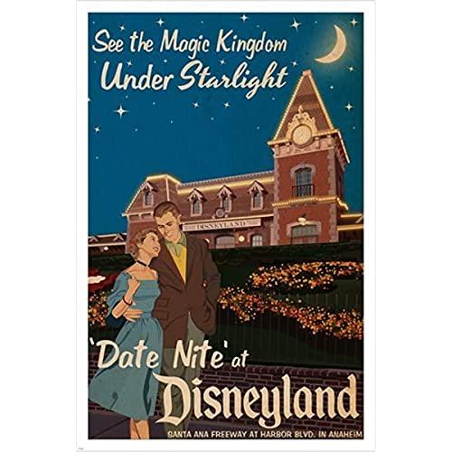 zachking Date Night Bei Disneyland Vintage Plakat 24x36 Magisches Königreich Von Starlight Hot Poster Amp-drucke. 60x90cm NoFramed