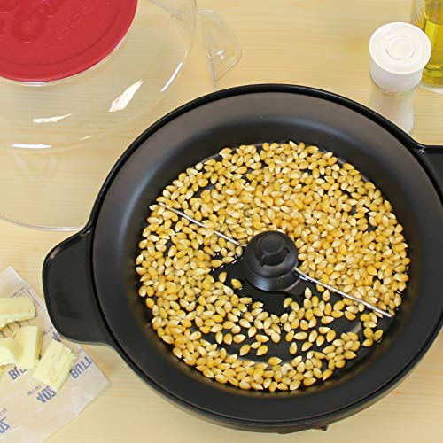 Product Image 6: West Bend 82505 Stir Crazy Electric Hot Oil Popcorn Popper Machine Offers Large Lid for Serving Bowl and Convenient Storage, 6-Quart, Red