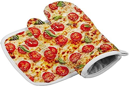 BONRI Isolierhandschuhe Delish-191908-Blumenkohl-Pizza-0390-Landschaft-pf-1568654348 Hitzebeständiger Küchentopfhalter und Ofenhandschuh Set für Mikrowelle Ofenhandschuh Größe 16,5x27,5 cm