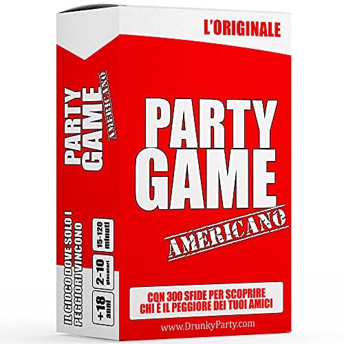 Drunky Party | Party Game Americano – Giochi Alcolici per Addio al Nubilato e Addio al Celibato, Giochi da Tavolo per Adulti, Gioco Alcolico per Feste, Carte da Gioco, Gioco di società, Idee Regalo