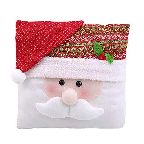 Generic Brownyon Frohe Weihnachten Dekokissen für Sofa, Couch, Bett und Auto,Weihnachtsmann