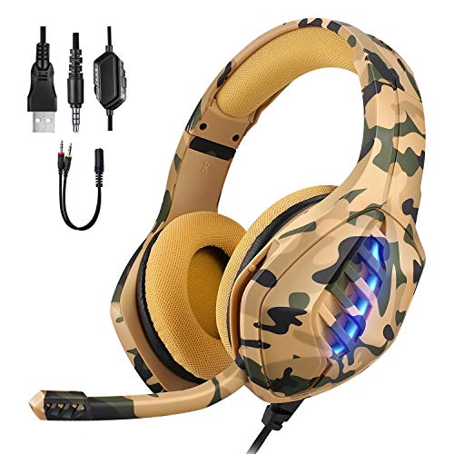 Gaming Headset, Moimhear Ps4 Headset, Xbox One Headset with...
