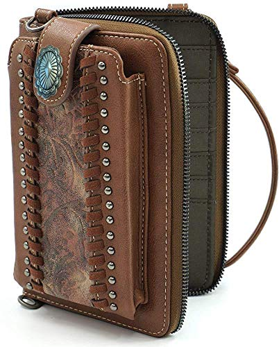 Montana West Crossbody Cell Phone Purse For Women Western Style Phone Bags Travel Size With Strap MWUSA-PHD-107BR