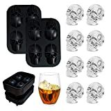 Skull Ice Cube Mold Tray 3D Silicone Ice Skull Maker for Christmas Halloween Whiskey Cocktails Juice