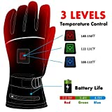 Electric Battery Heated Gloves for Women Men,Touchscreen Texting Water-resistant Thermal Heat Gloves,Battery Powered Electric Heated Ski Bike Motorcycle Warm Gloves Hand Warmers,Winter Thermo Gloves