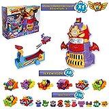 SuperZings Serie 5 - Power Tower Assault y Pack Sorpresa con 18 Sets | Contiene Juguete Tower Power Assault, 10 Sobres One Pack y 8 Aerowagons | Juguetes y Regalos para Niños y Niñas