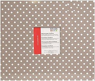Artemio Album photo 30 x 30 cm Beige à pois blancs