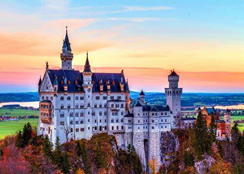 1000ピース ジグソーパズル 風景 ドイツを代表するノイシュヴァンシュタイン城 夢のようなお城 (70×50cm) 推奨14才以上