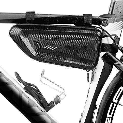 NAYY Fahrradrahmentasche, wasserdichte Dreieckstasche Fahrradtaschen Großer Stauraum Crossbar Fahrradrahmentaschen mit Fahrradtelefonhalter Front Top Tube Bag