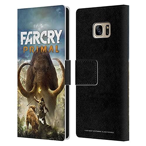 Head Case Designs Funda de piel tipo libro con licencia oficial de Far Cry Shot Primal Key Art compatible con Samsung Galaxy S7 Edge ⭐