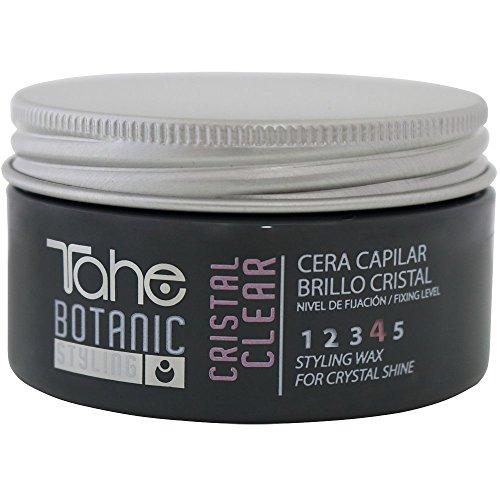 Tahe Botanic Styling Cera Capilar/Cera para Pelo Brillo Cristal para un Look Brillante y Moajdo, Fijación 4, 100 ml