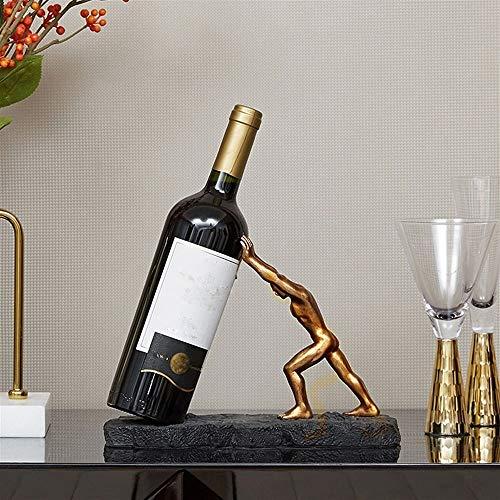 Asncnxdore Caracteres Sala De Estar Creativa Porche Gabinete del Vino del Estante del Vino Decoración De La Sala Cubierta Práctica La Decoración del Hogar Artesanales Muebles 27 * 11 * 19cm