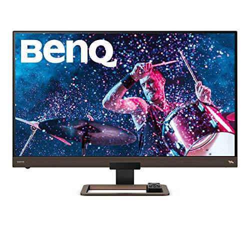 BenQ EW3280U - Monitor de 32' 4K UHD (3840x2160, 5 ms, 60 Hz, HDMI, USB-C, DCI-P3, HDR 400, Altavoces, Mando a Distancia, FreeSync) - Marron / Negro metálico
