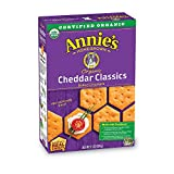 Annie's Organic Classic Crackers, Cheddar, Baked Cheese Snack, 6.5 oz Box (Pack of 6)