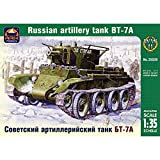 BT-7A Soviet Tank Model Kit 1/35 Scale - Russian Tank BT7A Military Models Kits - WW2 USSR BT 7A Artillery Tank Miniatures Plastic Model Kit with Assembly Instructions in Russian Language