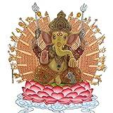 Pevfeciy La Escultura de Resina Piedra Arenisca Hue Buddism Godness Guanyin Estatua Hecha a Mano estatuilla Feng Shui Decoración Vignéswara,A