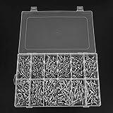 con caja de almacenamiento Kit de remaches ciegos de cabeza redonda Kit de remaches a prueba de corrosión Aluminio Kit de remaches de aleación de aluminio para máquina remachadora, carpeta