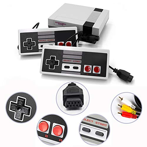 LONSUN Classic Retro Game Console with 620 Games, Childhood Game Console Game Player with 2 Nes Controllers and AV Output, Best Gift for Kids