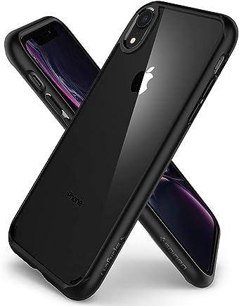 spigen Funda iPhone XR, [Ultra Hybrid] Tecnología de cojín de Aire y protección híbrida de la caída - [Negro Mate] 064CS24874