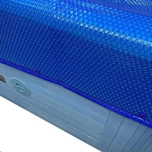 ZJM Cobertor Solar para Piscinas En la Cubierta de Invierno de la Piscina de Tierra, Piscina de Marco Película Flotante Alfombrilla Protectora de Piscina Rectangular para la Familia, Boca Abajo