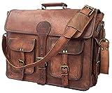 Alaska Exports Laptop-Tasche aus Leder für Männer und Frauen, Aktentaschen für Herren 11 x 15...