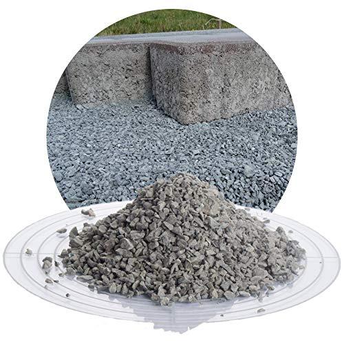 25 kg Diabas Pflastersplitt grau in 1-5 mm von Schicker Mineral für eine stabile, drainagefähige und witterungsbeständige Pflasterbettung