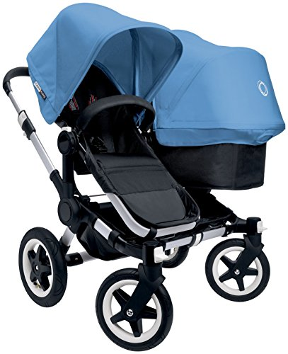 Best Price! Bugaboo Donkey Complete Duo Stroller - Ice Blue - Aluminum