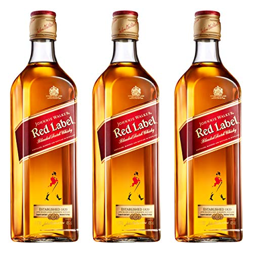 Johnnie Walker Red Label 684559 - Botella de Whisky (3 Unidades, 40%, 1 L)