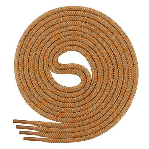 Di Ficchiano runde SCHNÜRSENKEL für Arbeitsschuhe und Trekkingschuhe - sehr reißfest - ø ca. 4,5 mm, Polyester - SP-01-coyoty/orange-120