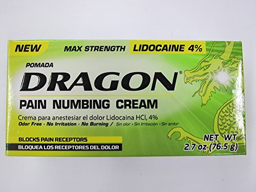 Dragon Pain Numbing Cream, Max Strength, 2.7 oz (Pack of 2)