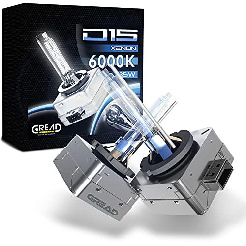 D1S Xenon 6000K 35W de Ampoule Remplacer Xénon (2 lampes) parfaitement ajusté, longue durée de vie blanc