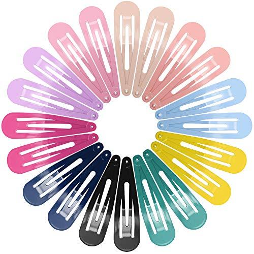 Haarspangen Mädchen, Funtopia 40 Stück Haarspangen Damen Bunte Hair Clips Metall Haarklammern Mädchen, 7cm Lange, 10 Farben mit je 4 stk